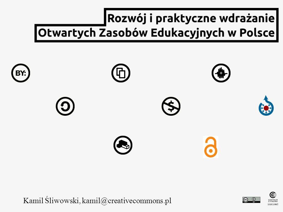 Kamil Śliwowski, kamil@creativecommons.pl