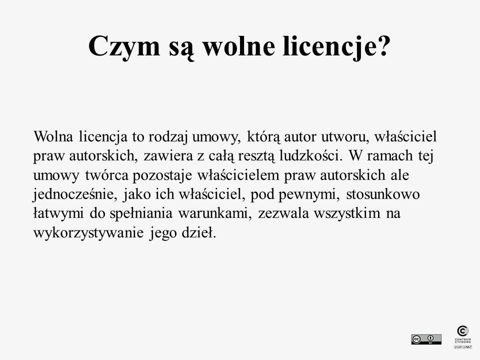 Czym są wolne licencje