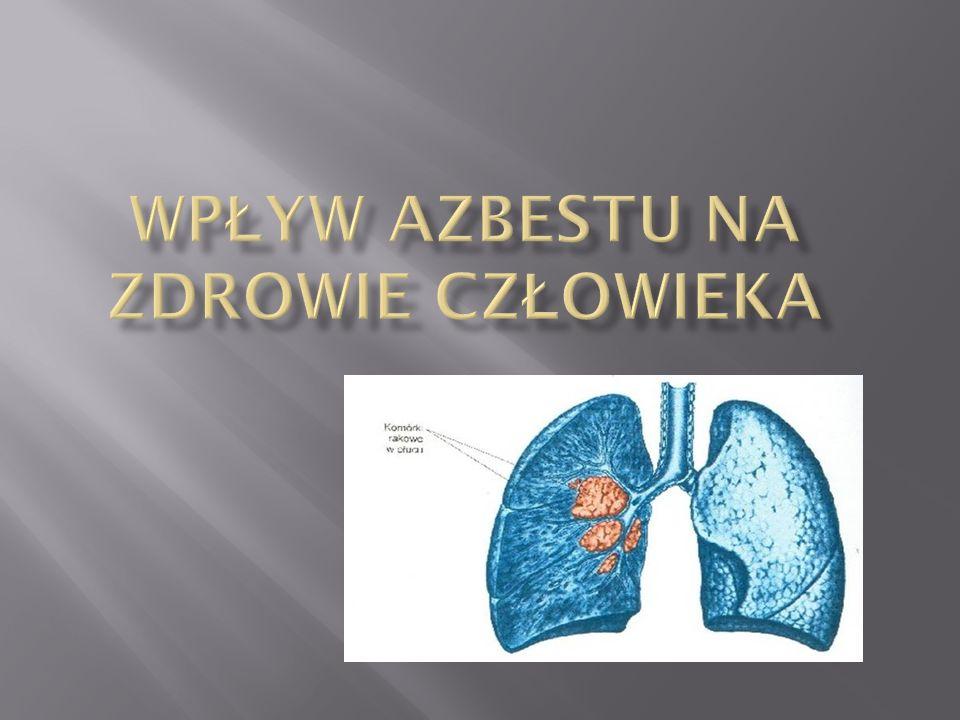 Wpływ azbestu na zdrowie człowieka