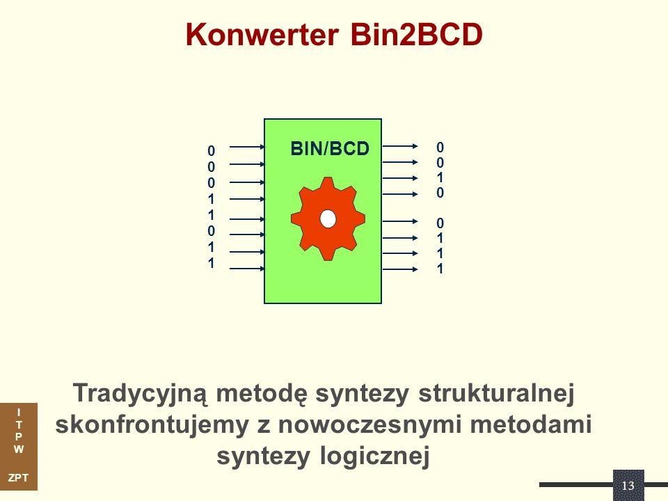 Konwerter Bin2BCD Tradycyjną metodę syntezy strukturalnej