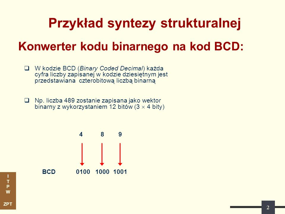 Przykład syntezy strukturalnej