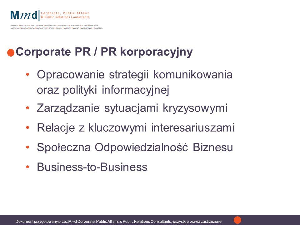 Corporate PR / PR korporacyjny