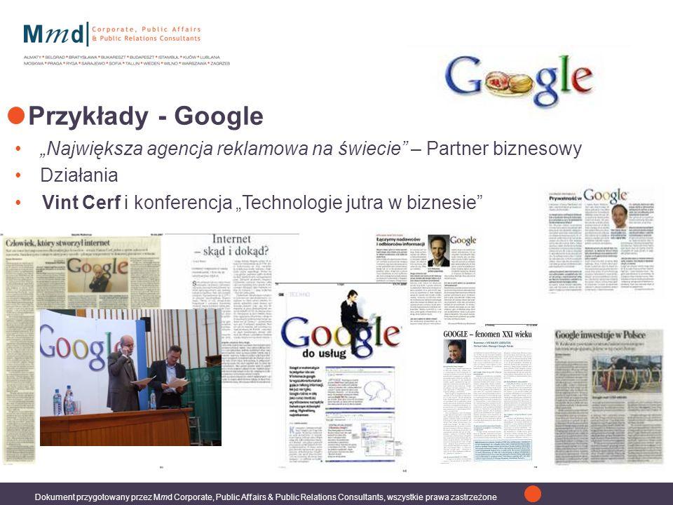 """Przykłady - Google """"Największa agencja reklamowa na świecie – Partner biznesowy."""