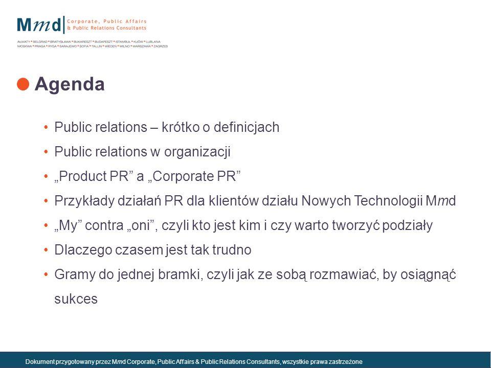 Agenda Public relations – krótko o definicjach