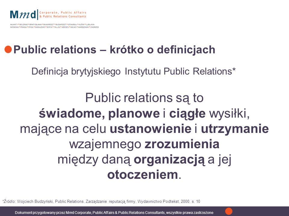 Public relations – krótko o definicjach
