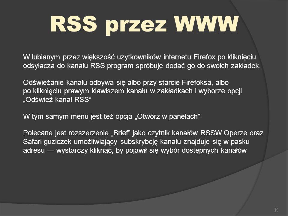 RSS przez WWW