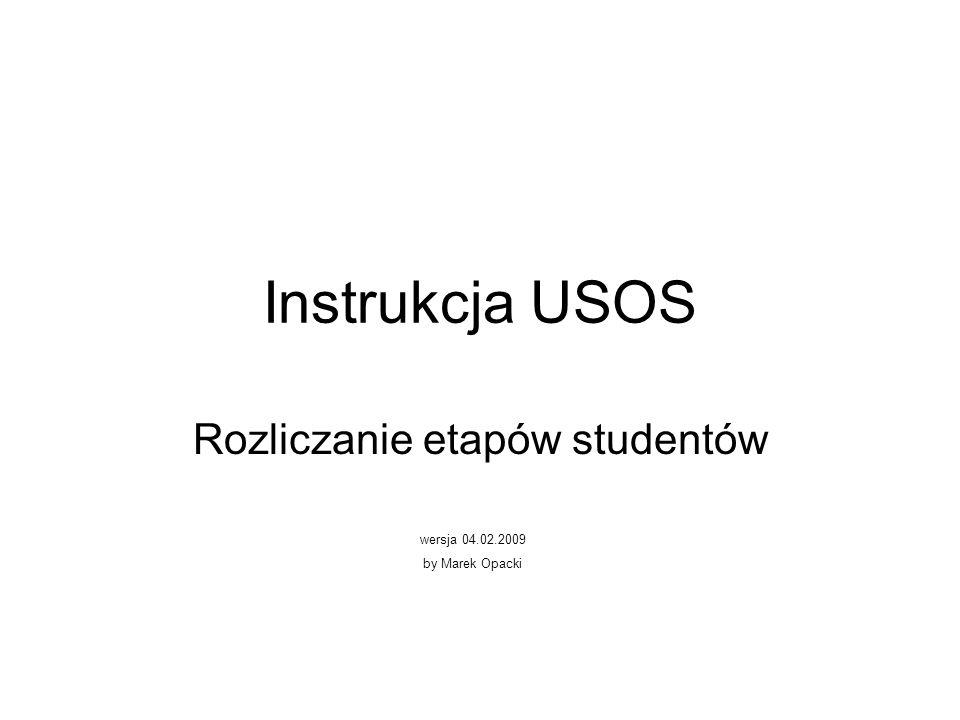 Rozliczanie etapów studentów