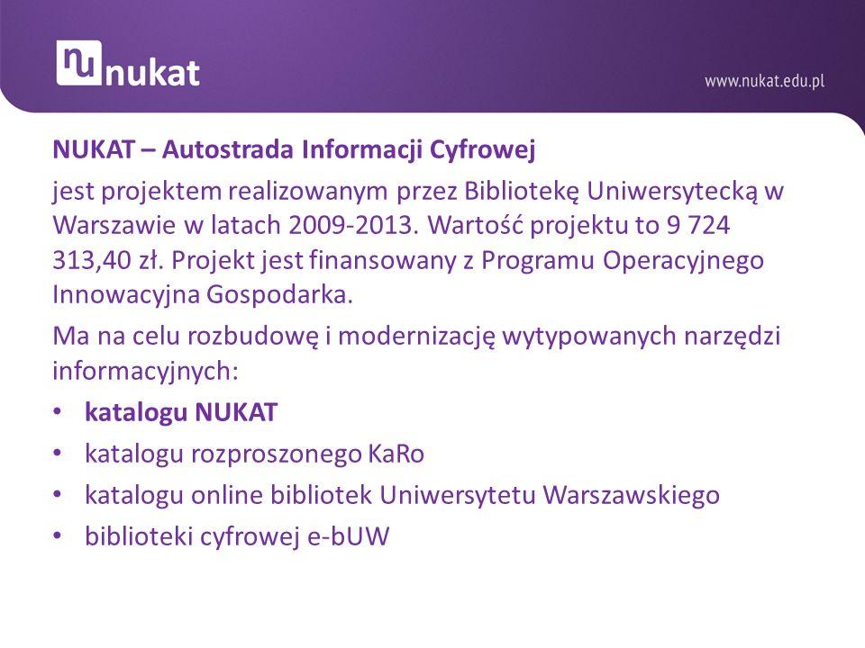 NUKAT – Autostrada Informacji Cyfrowej