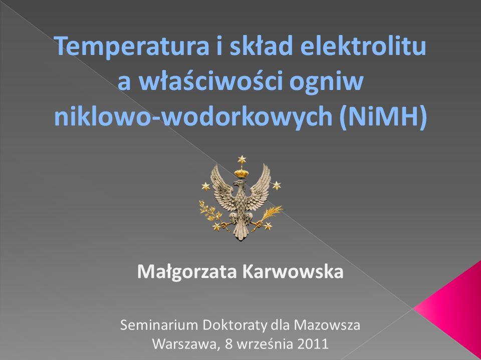 Temperatura i skład elektrolitu niklowo-wodorkowych (NiMH)