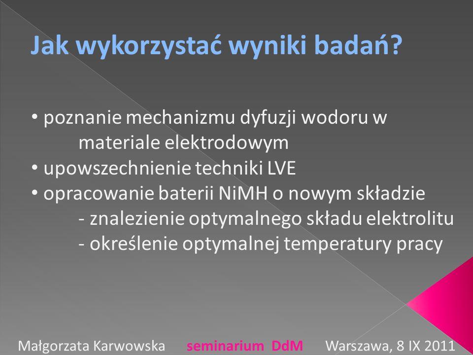 Małgorzata Karwowska seminarium DdM Warszawa, 8 IX 2011