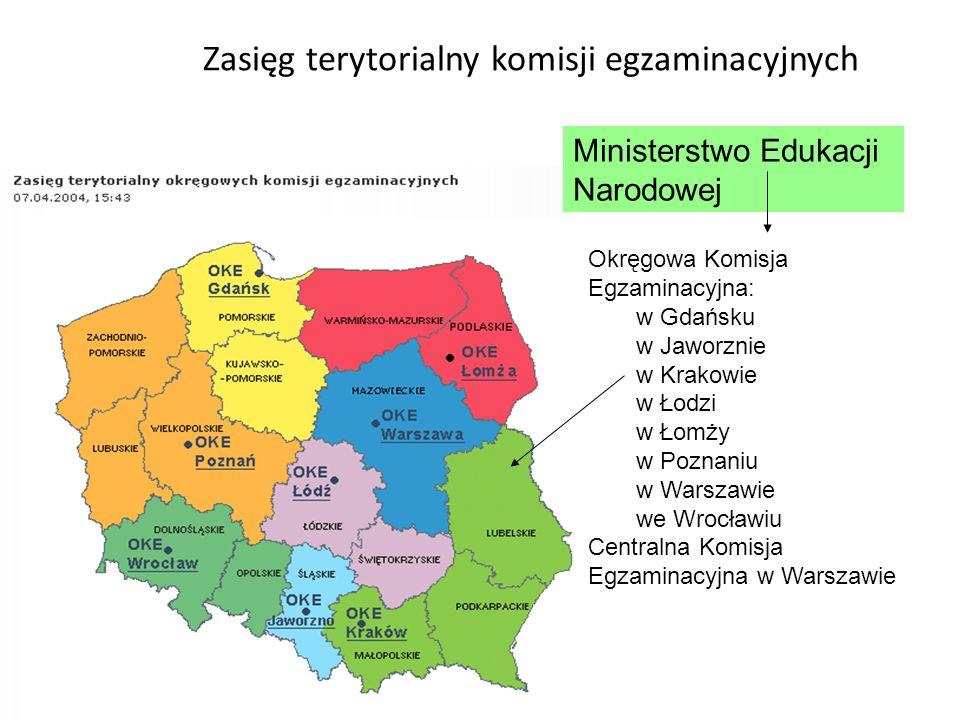 Zasięg terytorialny komisji egzaminacyjnych