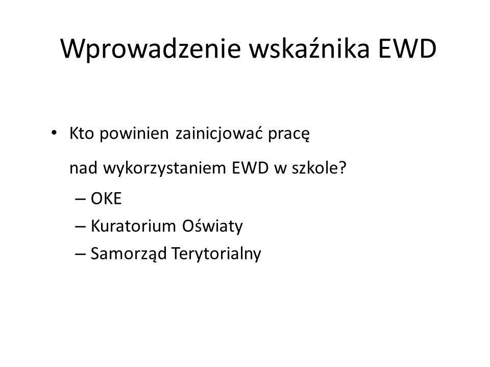 Wprowadzenie wskaźnika EWD