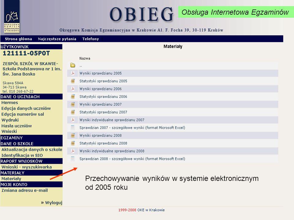 Obsługa Internetowa Egzaminów