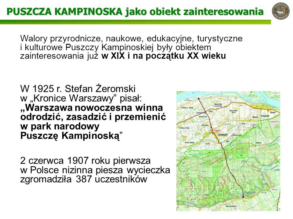 PUSZCZA KAMPINOSKA jako obiekt zainteresowania