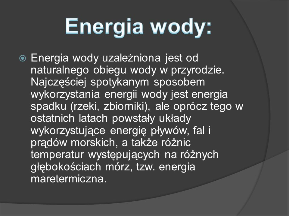 Energia wody: