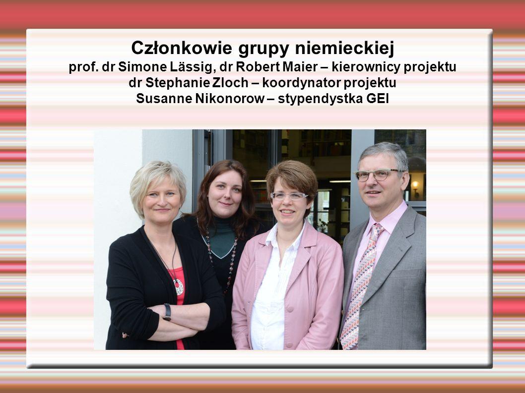 Członkowie grupy niemieckiej prof