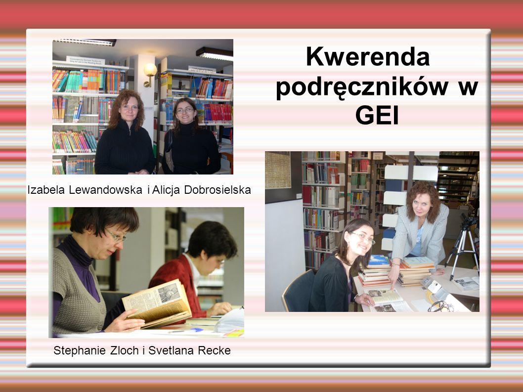 Kwerenda podręczników w GEI
