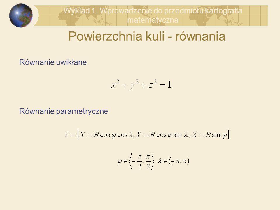 Powierzchnia kuli - równania