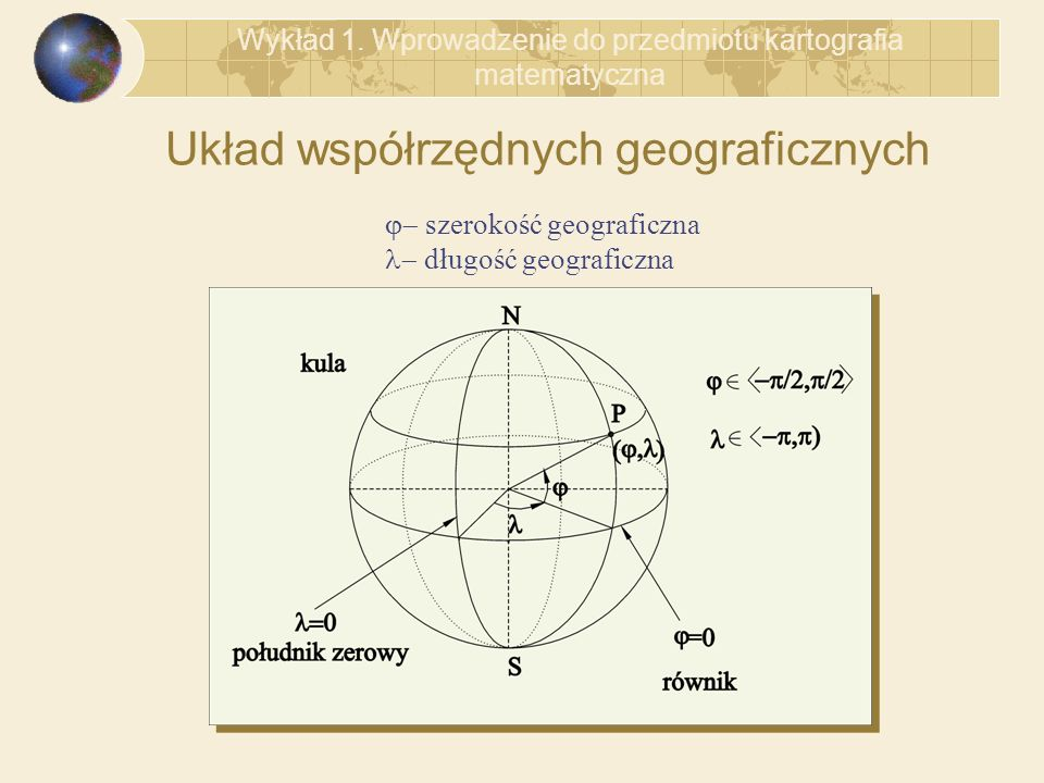 Układ współrzędnych geograficznych