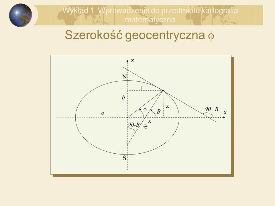 Szerokość geocentryczna f