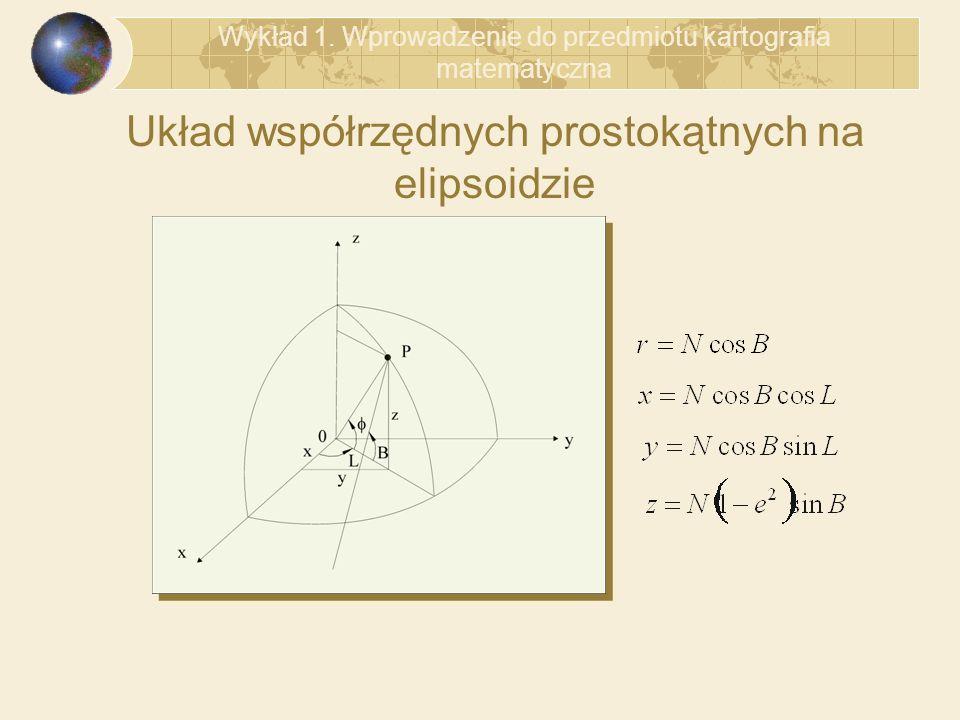 Układ współrzędnych prostokątnych na elipsoidzie