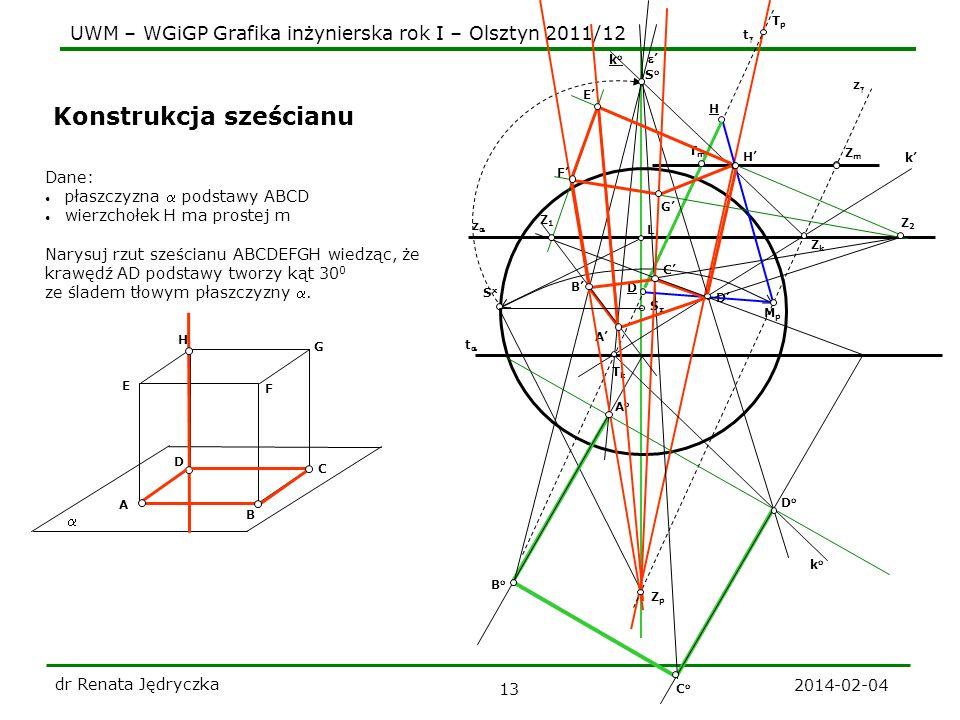 Konstrukcja sześcianu