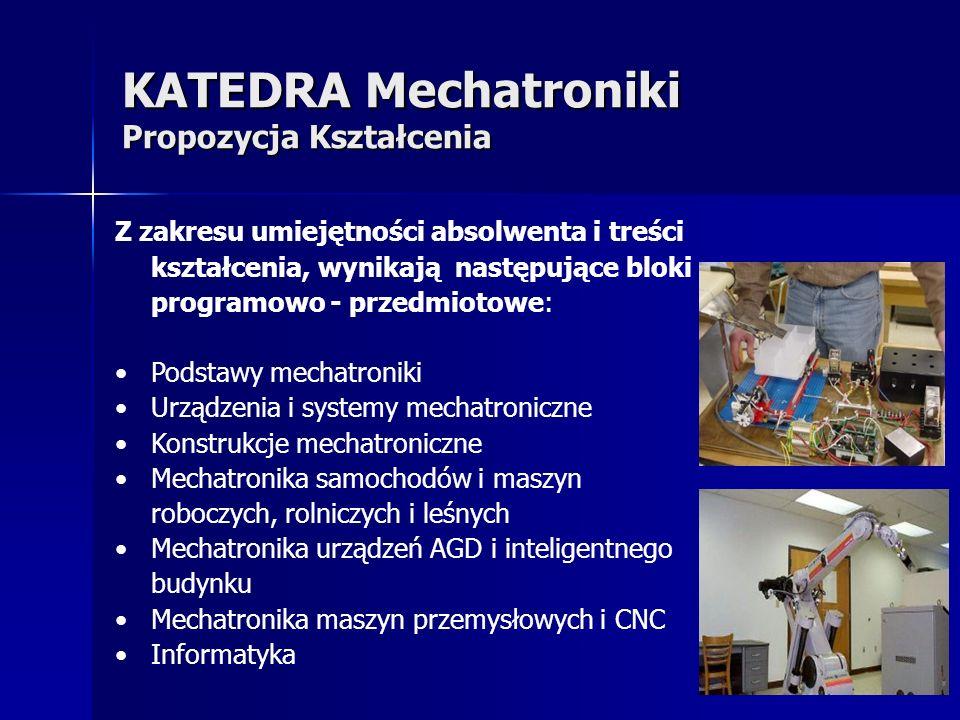 KATEDRA Mechatroniki Propozycja Kształcenia