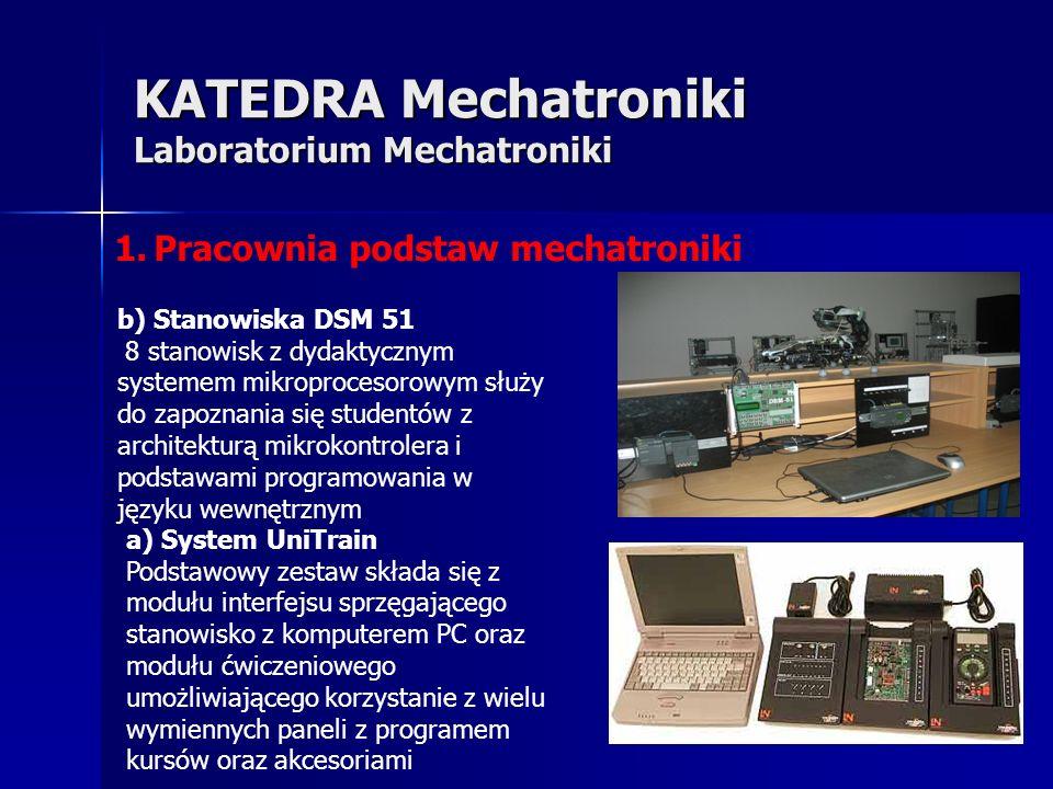 KATEDRA Mechatroniki Laboratorium Mechatroniki