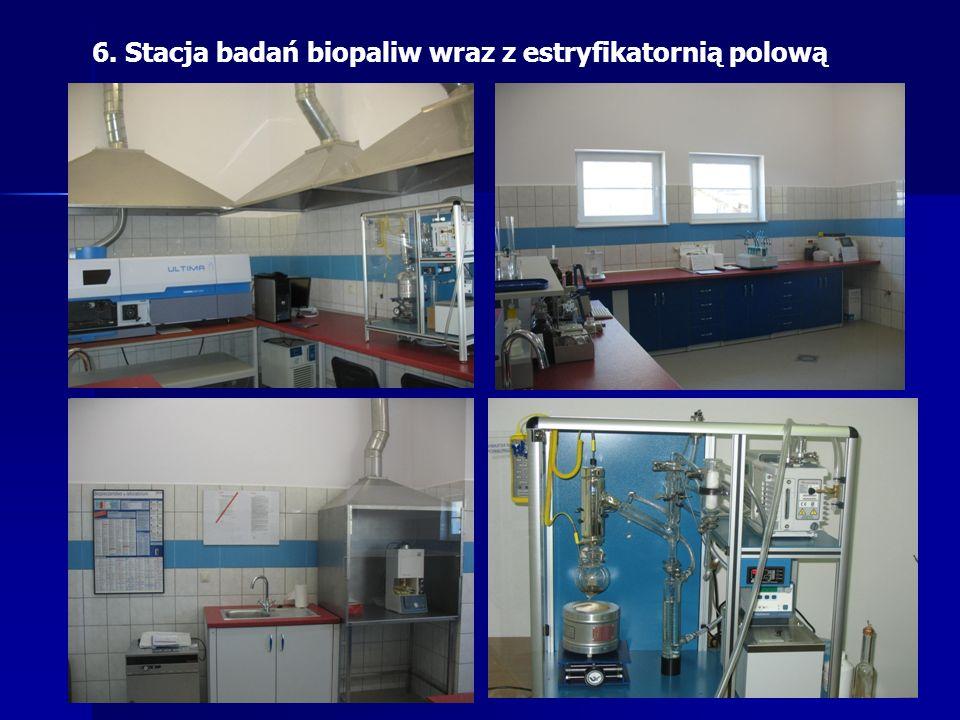 6. Stacja badań biopaliw wraz z estryfikatornią polową