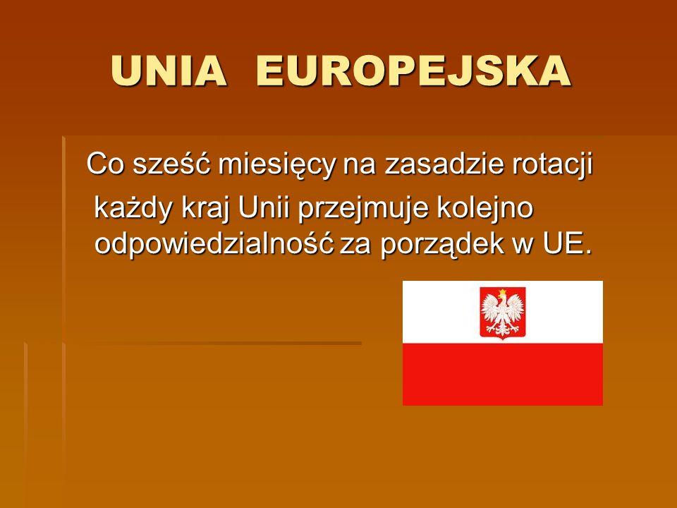 UNIA EUROPEJSKA Co sześć miesięcy na zasadzie rotacji