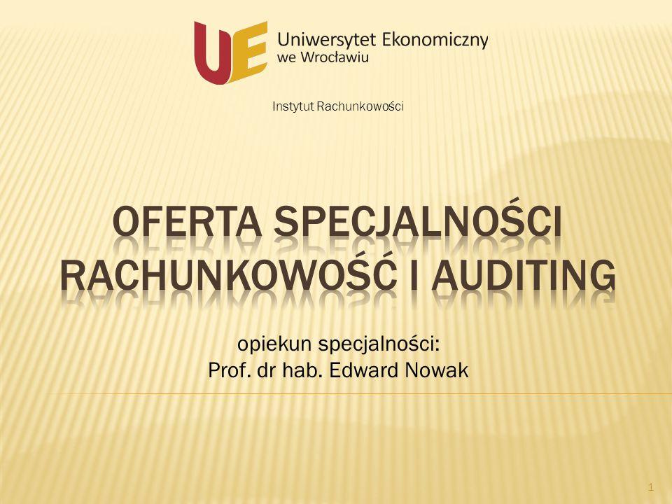 Oferta Specjalności Rachunkowość i auditing