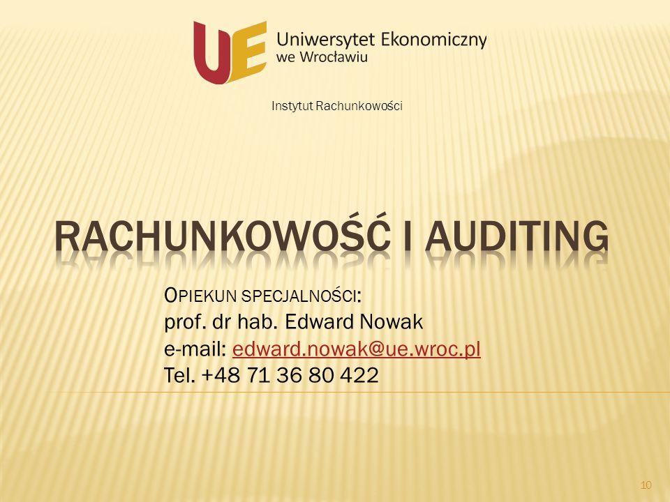 Rachunkowość i auditing