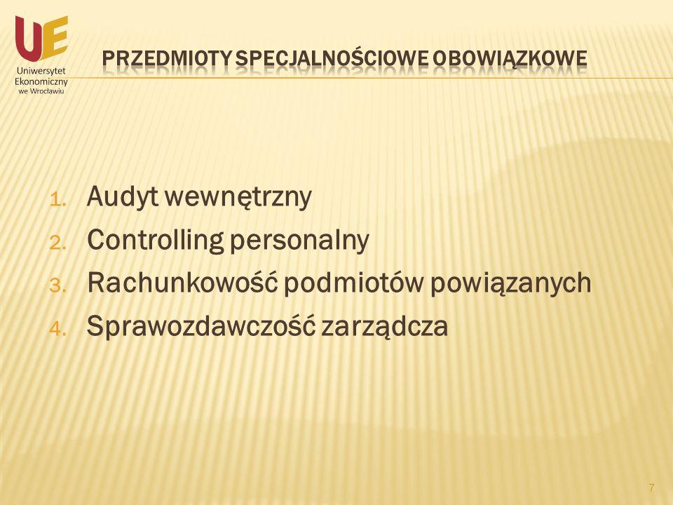 Przedmioty specjalnościowe obowiązkowe