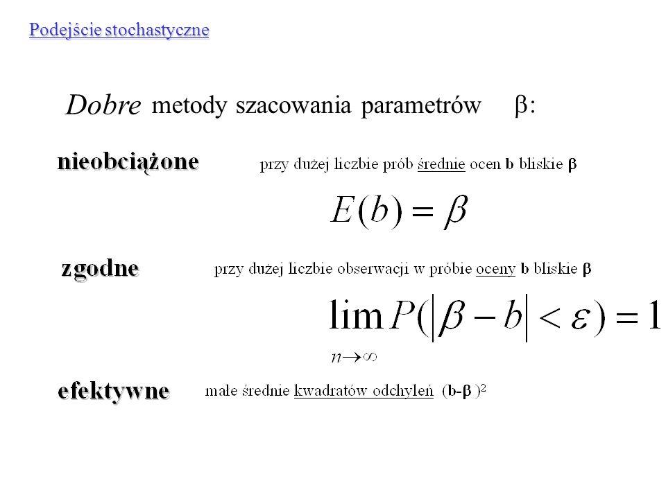 Dobre estymatory metody szacowania parametrów b:
