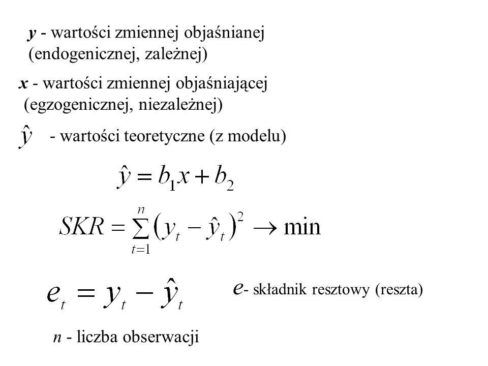e- składnik resztowy (reszta)