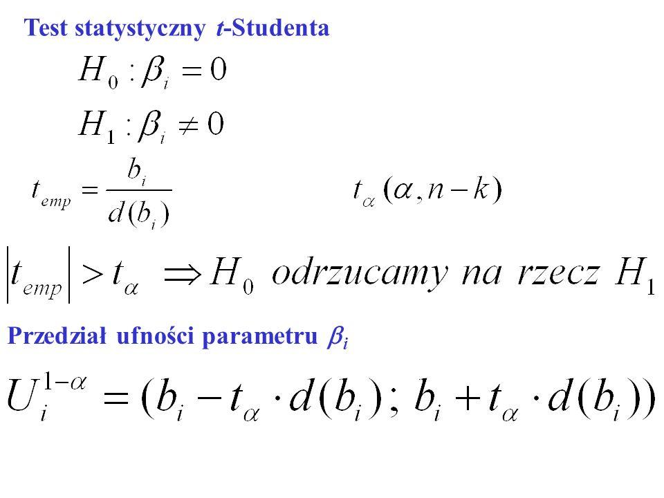 Test statystyczny t-Studenta