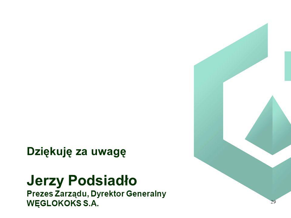 Jerzy Podsiadło Dziękuję za uwagę Prezes Zarządu, Dyrektor Generalny