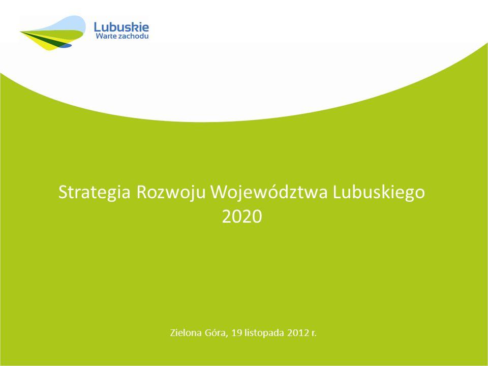 Strategia Rozwoju Województwa Lubuskiego 2020