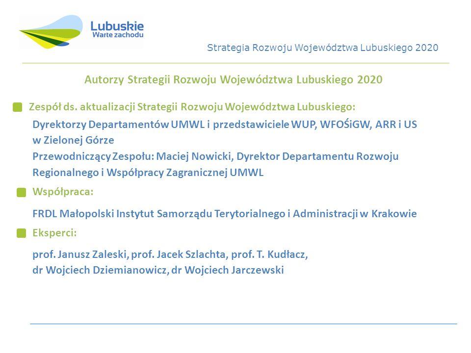 Autorzy Strategii Rozwoju Województwa Lubuskiego 2020