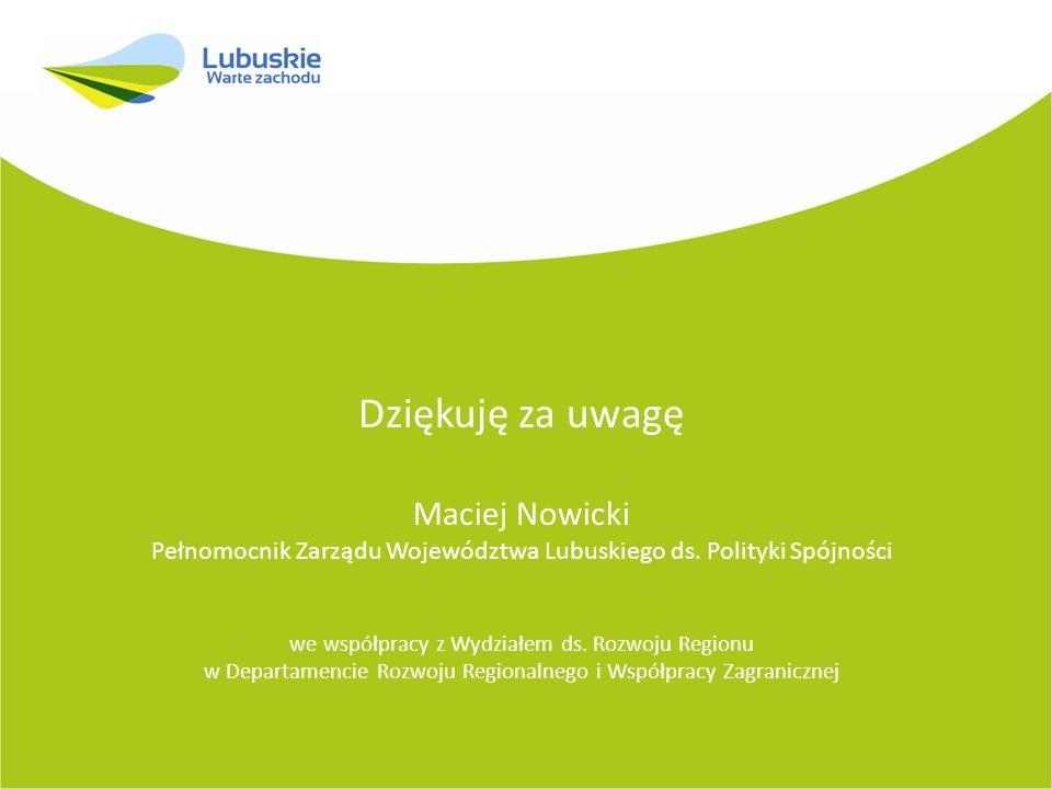 Dziękuję za uwagę Maciej Nowicki