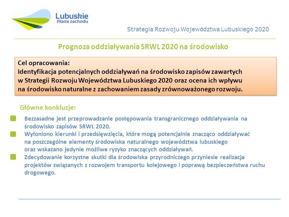 Prognoza oddziaływania SRWL 2020 na środowisko