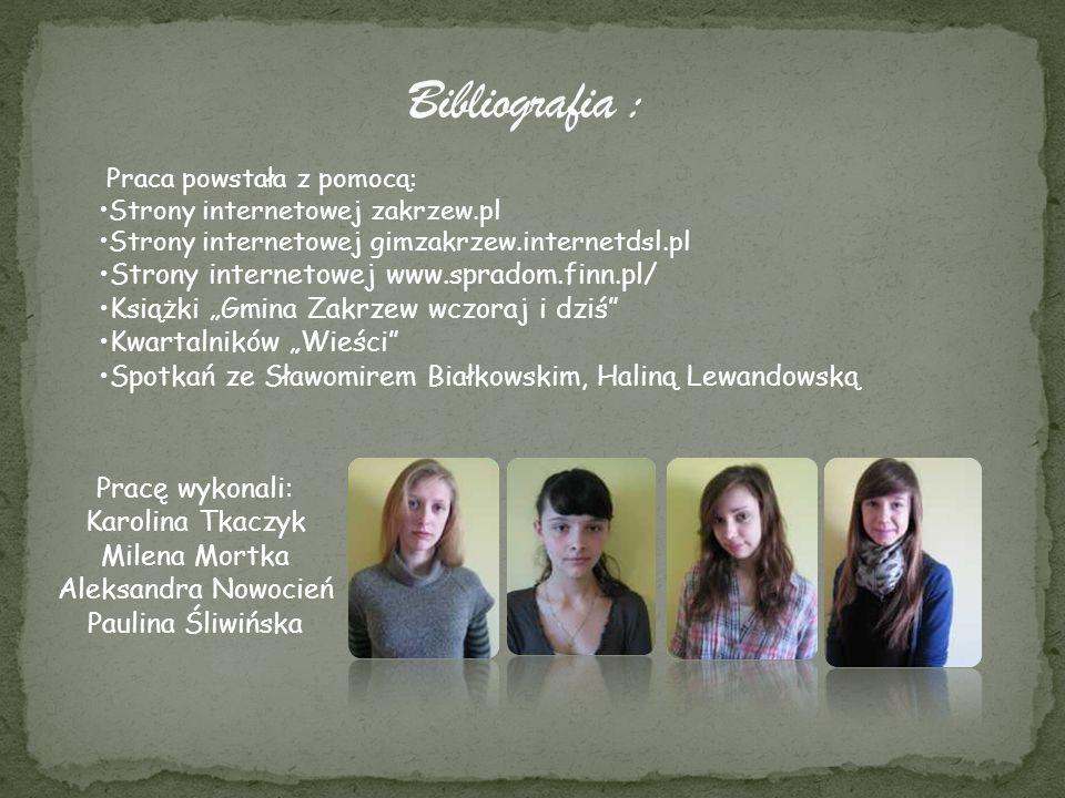 Bibliografia : Strony internetowej www.spradom.finn.pl/