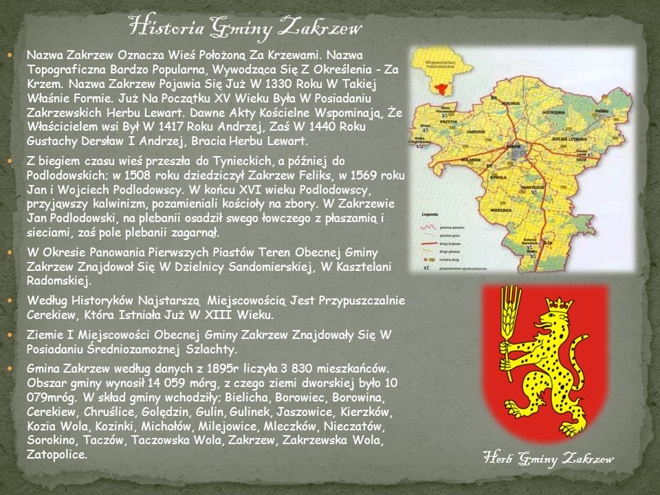 Historia Gminy Zakrzew