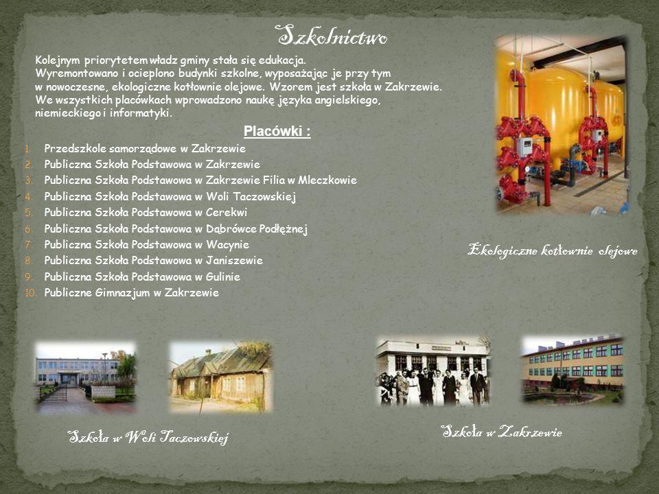 Szkolnictwo Ekologiczne kotłownie olejowe Szkoła w Zakrzewie