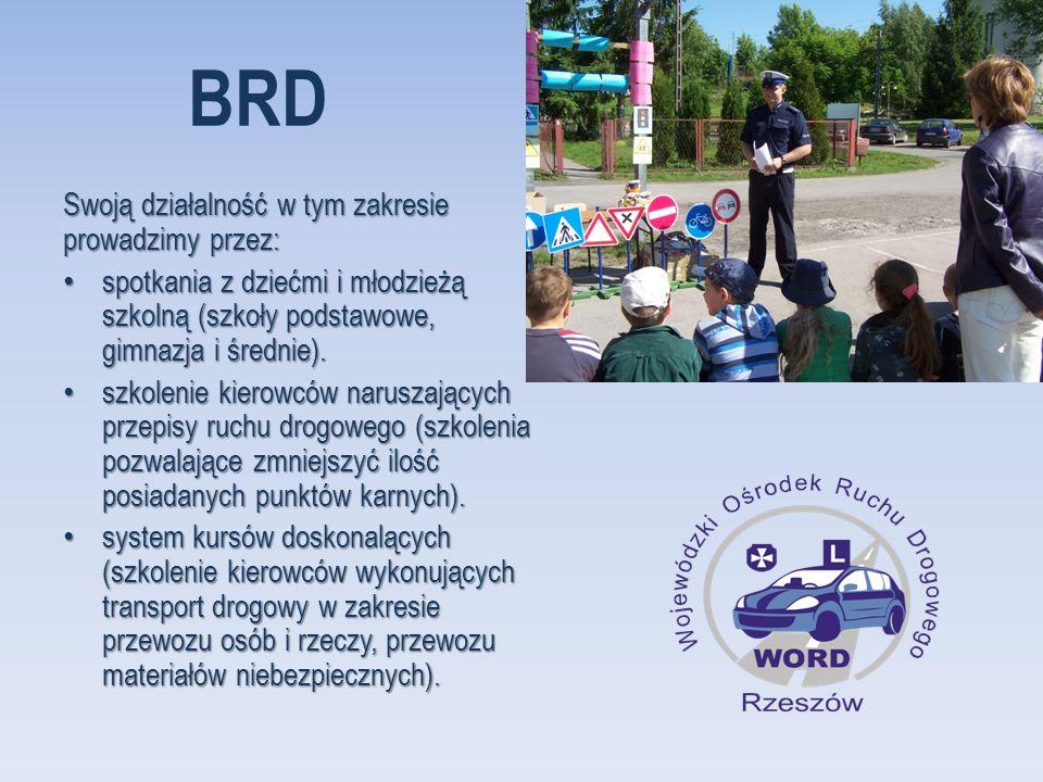 BRD Swoją działalność w tym zakresie prowadzimy przez: