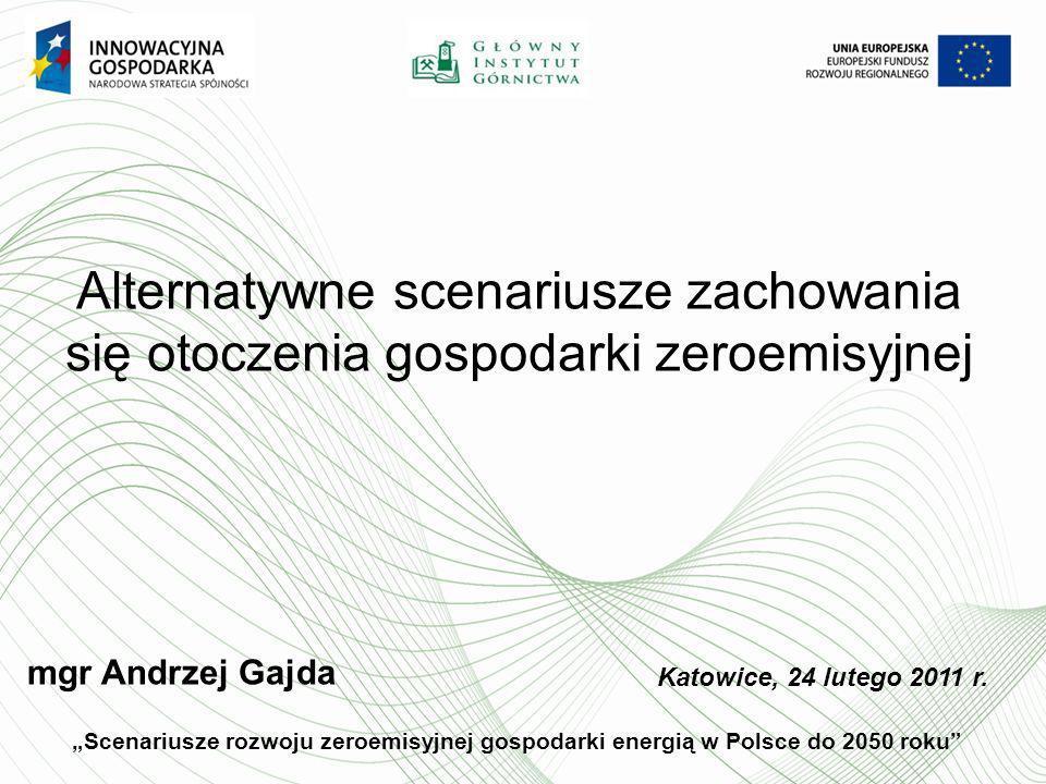 Alternatywne scenariusze zachowania się otoczenia gospodarki zeroemisyjnej