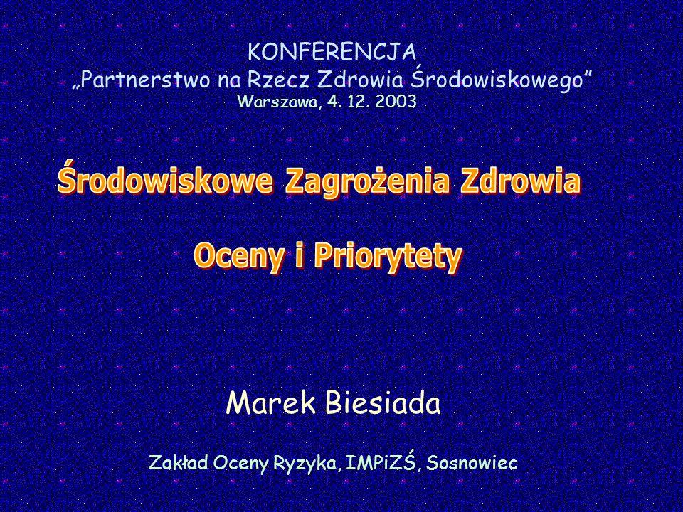Marek Biesiada Zakład Oceny Ryzyka, IMPiZŚ, Sosnowiec