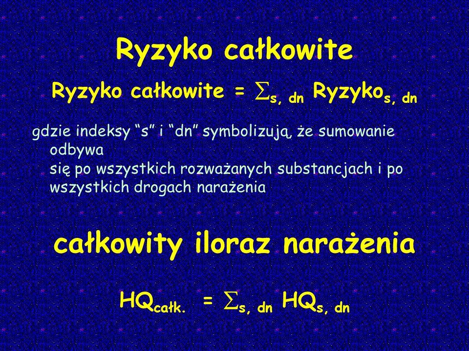 Ryzyko całkowite = s, dn Ryzykos, dn
