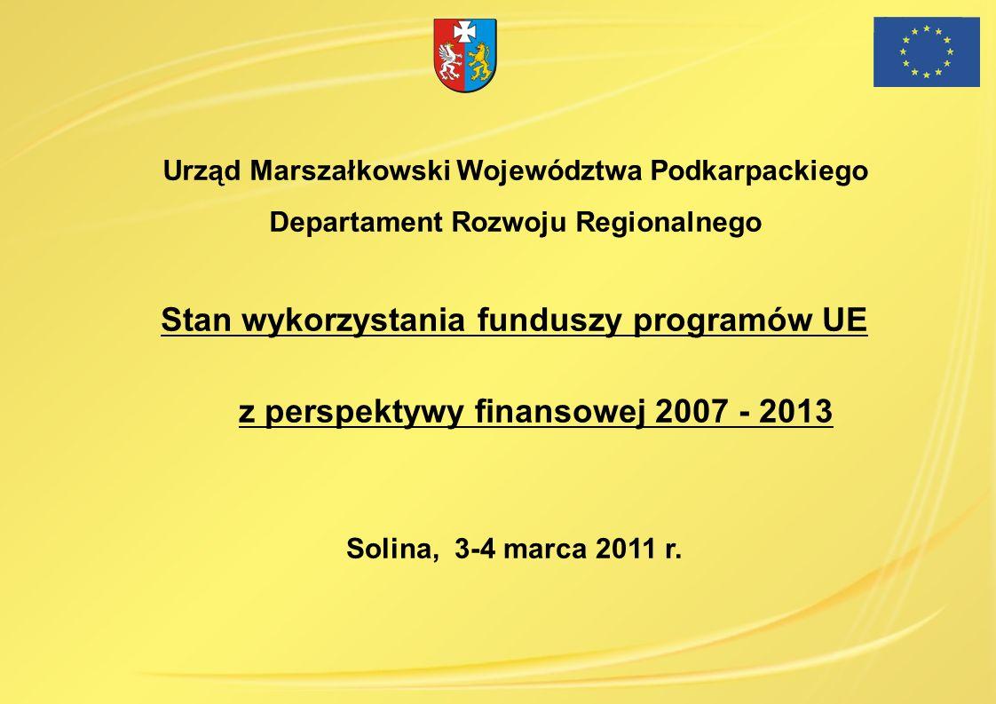 Urząd Marszałkowski Województwa Podkarpackiego Departament Rozwoju Regionalnego