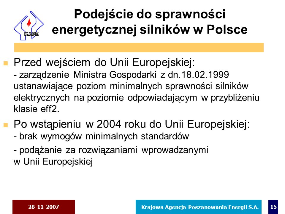 Podejście do sprawności energetycznej silników w Polsce